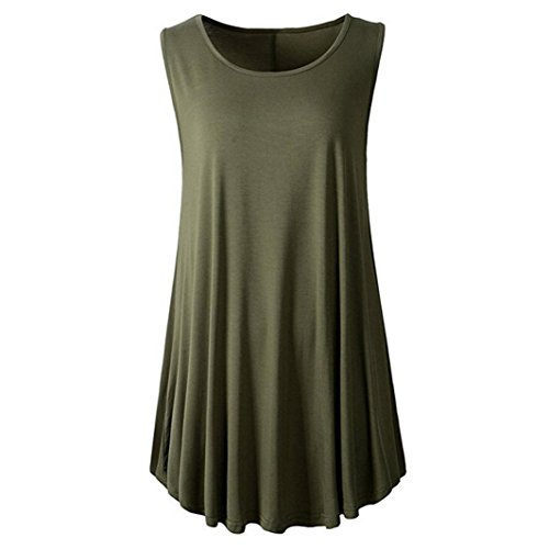 DEELIN Fashion Summer Women Casual Solid O-Neck Confortable Sleeveless Sexy Tunic Swing Flare Daily Tank Top Vest