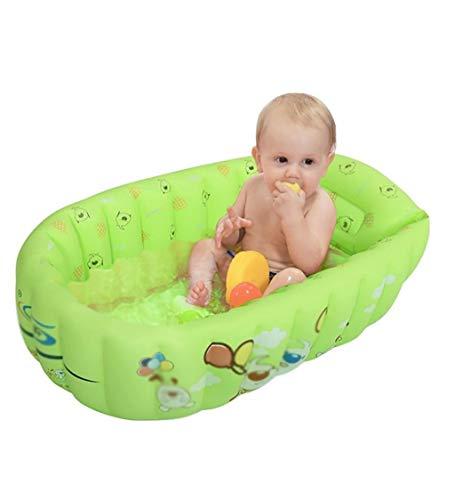 Babybadewanne, Baby-Badewanne, grüne zusammenklappbare aufblasbare Wanne, tragbare Luftpumpe 90 * 53 * 30cm - Geeignet für die Reise zu Hause