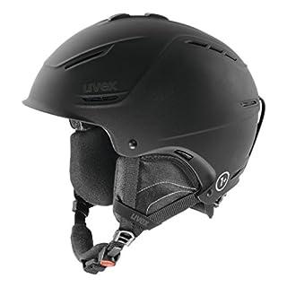 UVEX p1us Helm für Skihelm Snowboardhelm, black met mat, 55-59 cm