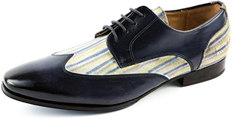 Melvin & Hamilton MH15-247 - Zapatos de Cordones de Piel Lisa para Hombre Azul Azul 41 EU -