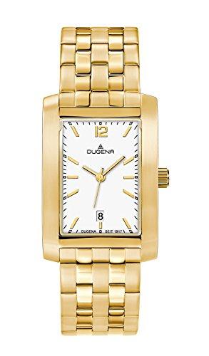 Dugena–Reloj de pulsera analógico para mujer cuarzo, revestimiento de acero inoxidable 4460570