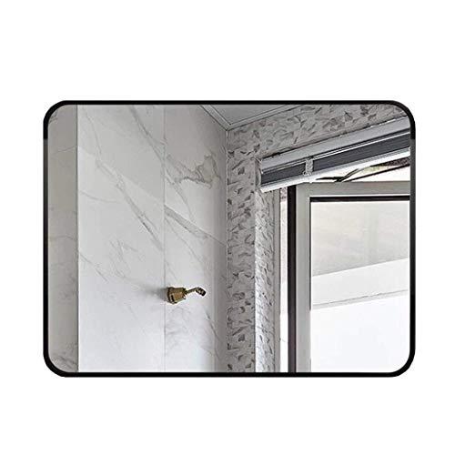 Espejo de baño Rectangular Mejorado Marco de Metal Negro/Espejo de Afeitar montado en la Pared/Espejo...