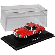Mercedes-Benz 230SL Rallye Nr 39 Pagode Roadster Rot 1963-1971 W113 Inkl Zeitschrift Nr 72 1/43 Ixo Modell Auto mit oder ohne individiuellem Wunschkennzeichen
