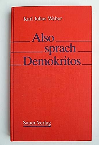 Also sprach Demokritos