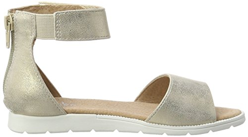 Bullboxer Agg007f1s, Sandales  Bout ouvert fille Gold (platinum/beige)