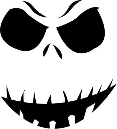 Jack Skellington Skull Halloween Vinyl Graphic Car Truck Windows Decal Sticker - Die Cut Vinyl Decal for Windows, Cars, Trucks, Tool Boxes, laptops, MacBook - virtually Any Hard, Smooth Surface (Halloween Jack Box In The)
