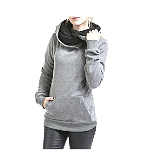 Elecenty-Damen-KapuzenpulloverFrauen-Kapuzenpullis-Outerwear-mit-Kapuze-Revers-Sweatshirt-Sweater-Lose-Wintermantel-Parka-Pullover-Sweatjacke-Oberbekleidung-Outdoorjacke-Winter-Mantel