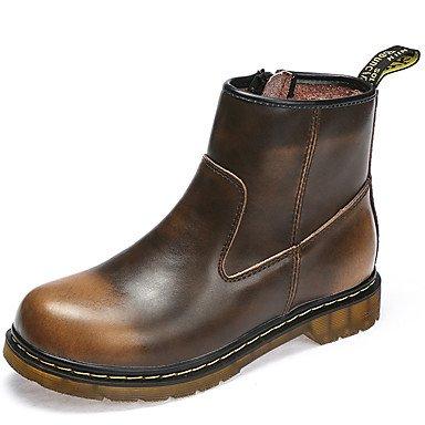 RTRY Scarpe da donna in pelle di Nappa Autunno Inverno Cowboy / Western stivali Bootie combattere Stivali Stivali tacco piatto Babbucce/Stivaletti per outdoor casual US5.5 / EU36 / UK3.5 / CN35