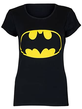 Love My Fashions Womens Ladies Batman Print T-Shirt - Black - M/L
