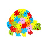 Singular-Point Baby Toddler Educational Intelligence Development Animal Number Cognize Wooden Colorful Brick Puzzle CM© toy (Sale!) (E)
