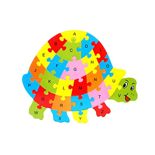 Coupon Matrix - Singular-Point Baby Toddler Educational Intelligence Development Animal Number Cognize Wooden Colorful Brick Puzzle CM© toy (Sale!) (E)