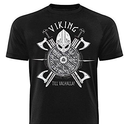 GODSRAGE Shirt VIKING TILL VALHALLA T-Shirt Training Trainingsbekleidung Damen Herren Sport Bodybuilding XL
