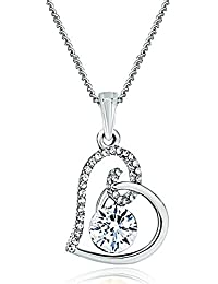 Mother's Day Gifts Women Fashion Jewellery Swarovski element Crystal Birthstone Heart Pendant Necklace