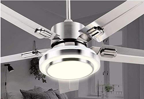 XI Guo Home Hotel Deko Licht, Deckenventilator mit Lampe Eisen Fan Blade Wohnzimmer Restaurant Minimalist Deluxe Durchmesser 108Cm Gzlight - Eisen-deckenventilator