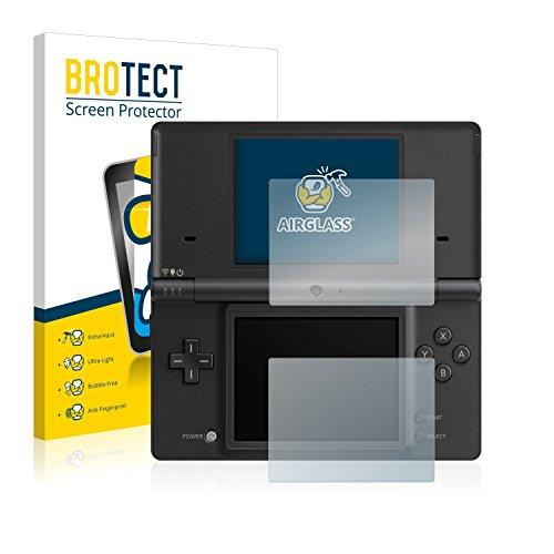 BROTECT Panzerglas Schutzfolie kompatibel mit Nintendo DSi - AirGlass, 9H Härte, Anti-Fingerprint, HD-Clear