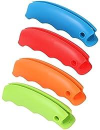 TRIXES Ensemble de 4 Supports en Silicone de Différentes Couleurs pour Sacs en Plastique