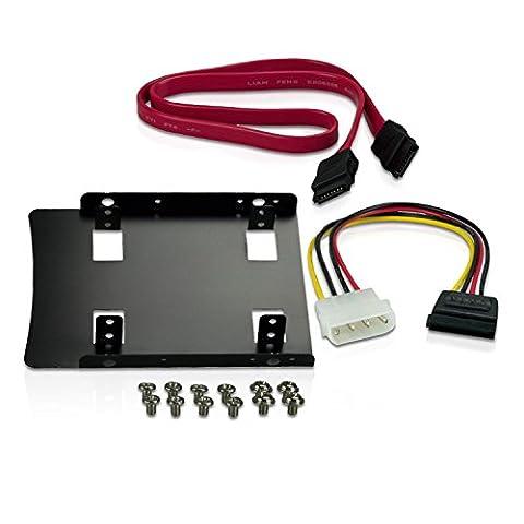 """CnMemory Einbau-Kit für 2,5"""" SSD/HDD auf 3,5"""" inkl. Wechselrahmen, Schrauben und Kabelsatz"""