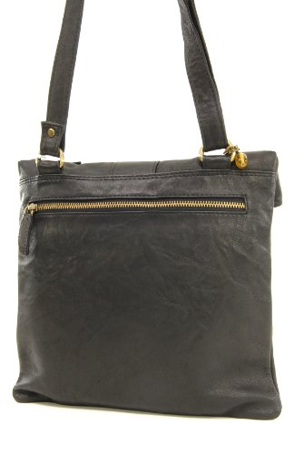 Catwalk Collection Handbags, Borse tascapane, Donna Nero (Schwarz)