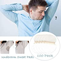 Underarm Sweat Pads - Fight Hyperhidrosis[100 Pack/50 Pairs]for Men and Women Underarm Armpit Sweat Pads Shield Dress Shields Sweat Guard