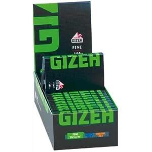 Gizeh 411110035 Black Fine Magnet – Kurzes Papier, 20 x 100 Blättchen, Flachshanf
