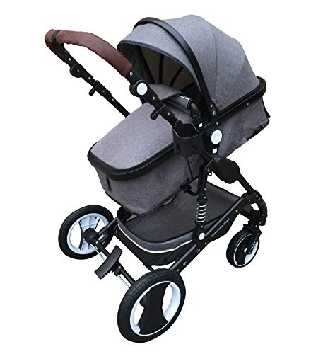 """Kinderwagen \""""California\"""", 3 in 1 Kombikinderwagen Megaset 8 teilig inkl. Babywanne, Babyschale, Sportwagen und Zubehör, zertifiziert nach der Sicherheitsnorm EN1888, Jeans"""