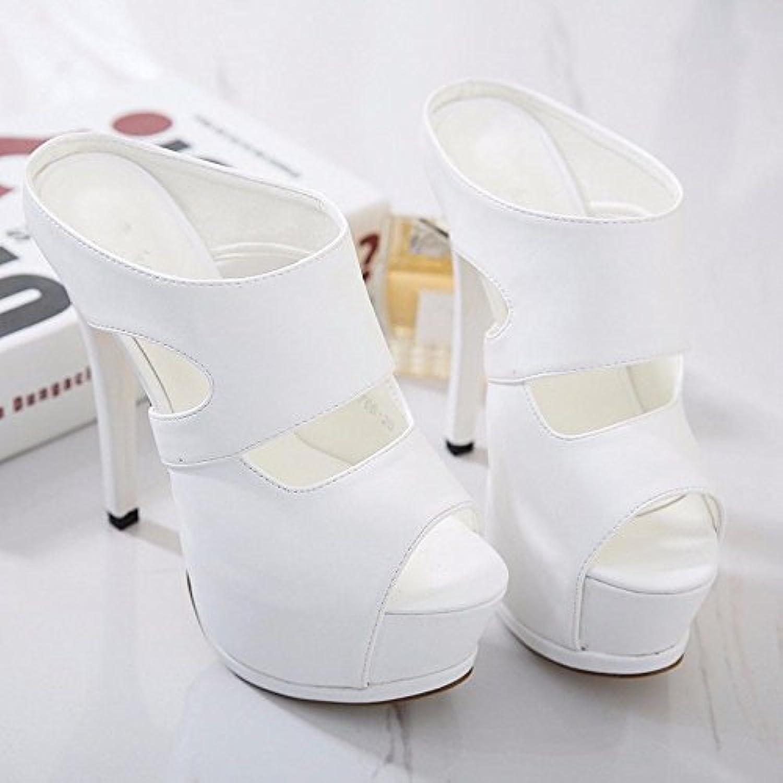 5188dd3c07f GTVERNH-Women S Ladies Fashion Summer Ultrastable Models Fashion Show 15Cm  Shoes High High High Heels Sandals Women With... B07CBQW5WP Parent ec57c0