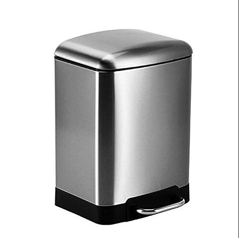 FYN® Grandes poubelles rondes rondes poubelle en plastique bidon d'eau 40L 60L couleur blanc bleu blue l