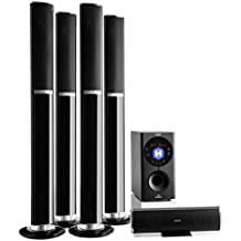 "auna Areal 652 • Sistema sonido envolvente 5.1 • Home Cinema • Surround • 145 W RMS • Subwoofer emisión lateral 6,5"" • Bass Reflex • 5 altavoces satélite • AUX • Tarjeta SD • Bluetooth • USB • Negro"