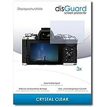 [3 Unidades] Olympus OM-D E-M5 Mark II Protector Pantalla disGuard® [Crystal Clear] Cristal, Transparente, Invisible / Anti-Arañazos, Sin Burbujas, Anti-Huella Dactilar, Protección contra Arañazos / Protector de Pantalla
