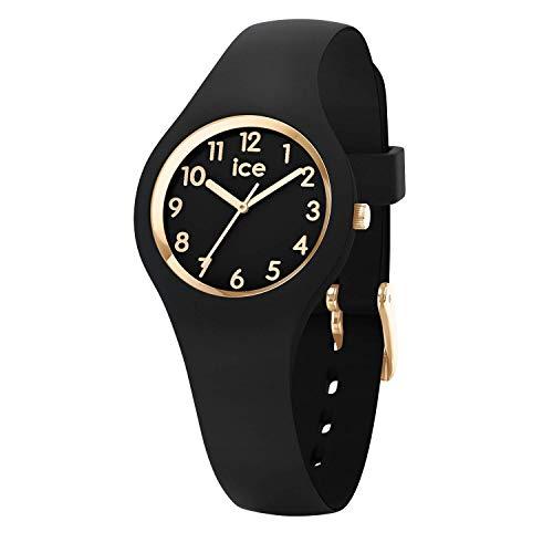 Ice-Watch - Ice Glam Black Gold - Montre Noire pour Femme avec Bracelet en Silicone - 015342 (Extra Small)