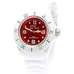 Nerd® NEW YORK Uhr in Weiß/Braun BU282