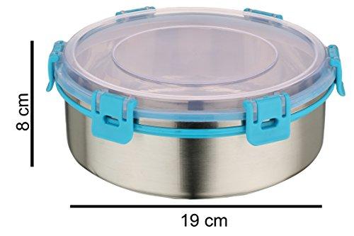 Rema - Nexa Set Of 2 Steel Lock Storage Container Blue - 1000ml Each