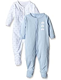 NAME IT Baby-Jungen Schlafstrampler Nitnightsuit W/F Nb B Noos 2er Pack
