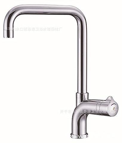 furesnts maison moderne Cuisine et le lavabo salle de bain Robinetterie rétro européen tout le cuivre à chaud et à froid KITCHEN Sink basin robinet robinets, (Standard G 1/2tuyau flexible universel portes)