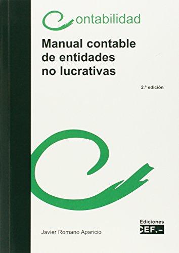 Manual contable de entidades no lucrativas por Javier Romano Aparicio