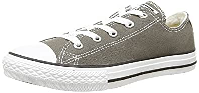 Converse Chuck Taylor All Star Seasonal Ox, Baskets mode mixte enfant - Gris (Anthracite), 27 EU