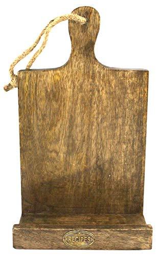 Massiv Poliert Holz zum Aufhängen oder Tisch Top Tablet oder Rezept Halter