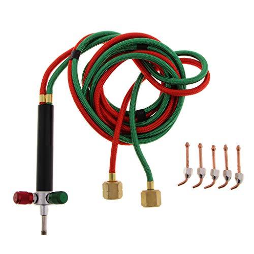 IPOTCH Multifunktionale Mini Schmuck Gas Schweißen Micro Torch Jewelers Löten Lötwerkzeuge mit 5 Stück Ersatzdüsen -
