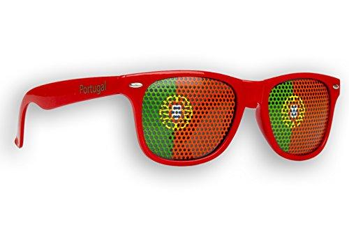 5 x Fanbrille Portugal - Portugal - Sonnenbrille - Brille Portugal - Rot - Fan Artikel
