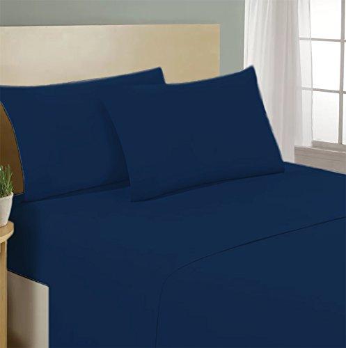 Coppia federe per cuscino guanciale letto 100% cotone made in italy tinta unita - blu - 52x80 cm