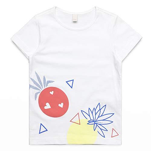 ESPRIT KIDS Mädchen SS T-Shirt, Weiß (White 010), Herstellergröße: 128+ -