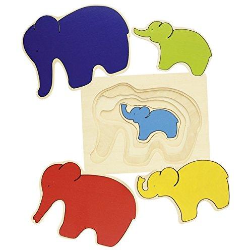 Goki - Puzzle de 5 capas con elefante, 5 piezas (Gollnest &...