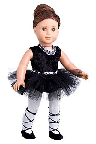 Black Swan - 3 piece ballerina outfit - Black Leotard,