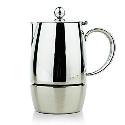 Moka Pot En Acier Inoxydable Cafetière À La Maison Espresso Machine À Café Induction Cooker, Facile à Retirer Et Facile à Nettoyer, Pour Restaurant Bureau À La Maison