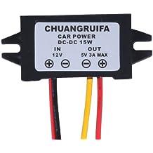 RioRand (TM) coche pantalla LED fuente de alimentación de 12 V a 5 V