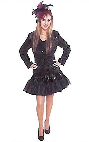 Blazer schwarz, Glitzer-Jackett aus Pailletten-Stoff - Star Blazer Kostüm
