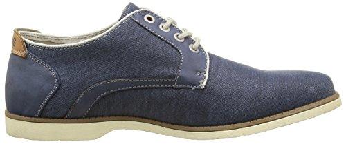 Mustang 4089303, Chaussures Lacées Homme Bleu (841 Jeans Blau)
