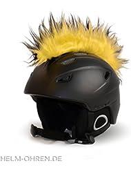 Casque jaune irokese «noir» pour le casque de ski, snowboard, de casque de vélo ou moto-coole helmdeko/irokesenaufsatz-helmirokese iro punk
