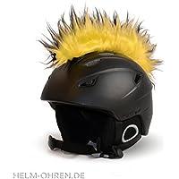 Adhesivos estilo punky para el casco de esquí, de snowboard, cascos de niños, de moto o de bici - Llama la atención - Adhesivo llamativo para el casco - Para niños y adultos, decoración para casco , negro/amarillo