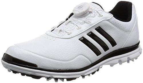 adidas W Adistar Lite Boa Schuhe Golf, Damen, Damen, W Adistar Lite Boa, Weiß/Silberfarben/Blau, 38.6